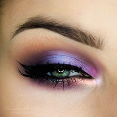 Makeup Geek Duochrome Eyeshadows in Blacklight, and Phantom. Makeup Geek Eyeshadows in Carnival, Cherry Cola, Curfew, Motown, Neptune, Petal Pusher and Vanilla Bean. Look by: Diamante Make Up