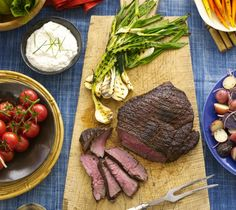 London Broil with Creamy Horseradish Sauce Recipe   Food Republic...my favorite cut right now ....