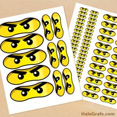 Click here to download FREE Printable LEGO Ninjago Eyes! Attach them to balloons, loot bags, or whatever you'd like!
