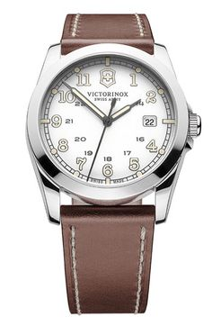 78555366d Victorinox Swiss Army® 'Infantry' Leather Strap Watch available at  Nordstrom Hodinky Rolex,