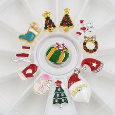 Dimonds Nails : 12PCS alloy Diamonds 3D nail art christmas decorations charms nails glitter rhin