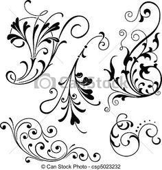 Wektor - kwiatowy, Zakrętasy - zbiory ilustracji, ilustracje royalty free, zbiory ikon klipart, zbiór ikon klipart, logo, sztuka, obrazy EPS, obrazki, grafika, grafik, rysunki, rysunek, obrazy wektorowe, projekt graficzny, EPS wektor graficzny