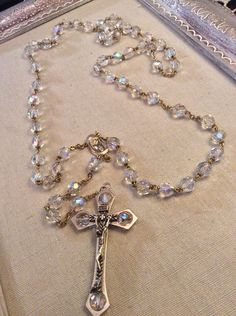 Hey, I found this really awesome Etsy listing at https://www.etsy.com/listing/242111349/vintage-rosary-italian-glass-ab-cut
