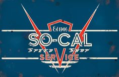 Distressed Metal Sign -SO-CAL Speed Shop Service | MonsterMarketplace.
