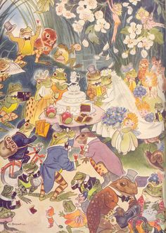 Frogs, Squirrels, Mice, Mouse - Children's Book Illustrations by Hilda Boswell, Enid Blyton's Water-Lily Story Book.