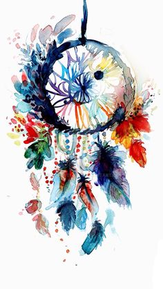 Watercolor dreamcatcher by cocobeeart on deviantart more painting & drawing, watercolour painting easy, watercolor Dreamcatcher Wallpaper, Dream Catcher Art, Dream Catcher Watercolor, Dream Catcher Painting, Watercolour Painting, Watercolor Mandala, Watercolor Dreamcatcher Tattoo, Watercolor Wallpaper, Easy Watercolor