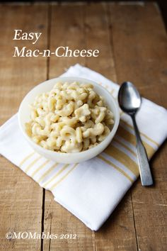 Easy Mac and Cheese Recipe - MOMables® - Healthy School Lunch Ideas