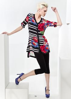 KRISS Sweden Tunic with stripes and flower Sweden, Tunic, Stripes, Flower, Blouse, Spring, Tops, Style, Fashion