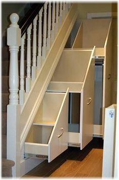 Drawer runners for under-stair storage