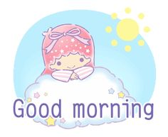 LINE Official Stickers - Little Twin Stars: Cute Courtesy Example with GIF Animation Cute Good Morning Gif, Good Morning Cartoon, Happy Morning, Hello Kitty Pictures, Kitty Images, Keroppi Wallpaper, Mickey Mouse Wallpaper, Little Twin Stars, Love Profile Picture