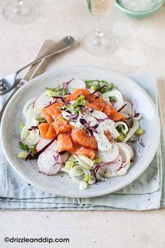 Salade de Saumon Bio cru, fenouil et radis - Food4Good