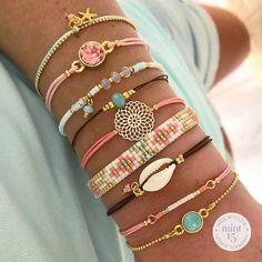 All kinds of fine bracelets, handmade and designed by Mix & match your bracelet set! Girls Jewelry, Cute Jewelry, Bridal Jewelry, Beaded Jewelry, Jewelry Bracelets, Handmade Jewelry, Black Bracelets, Summer Bracelets, Summer Jewelry