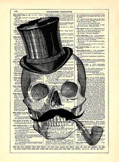 Chapeau haut de forme moustache squelette par StayGoldMedia sur Etsy