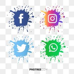 Explosion Social Media Icon Vector PNG and Vector Social Media Buttons, Social Media Banner, Social Media Logos, Whatsapp Png, Vector Whatsapp, Background Banner, Geometric Background, Background Patterns, Instagram Logo