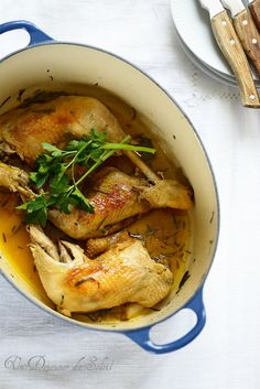Poulet braisé à l'orange