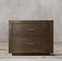 """La Salle Metal-Wrapped 30"""" Closed Nightstand"""