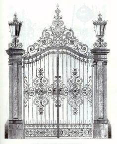 garden iron gates - Google Search