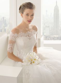 Boleros & Stolen - $50.93 - Half-Sleeve Spitze Hochzeit Bolero (0135060260)