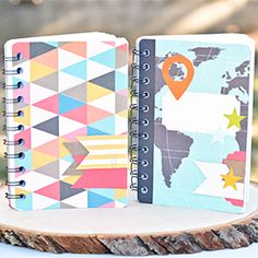 How to make notebooks using project life cards. These make a great summer journal for kids!