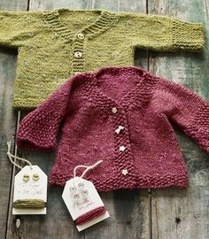 sweet baby sweaters from more last minute knitted gifts.