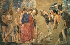 The Death of Adam, detail of Adam's Burial : PIERO della FRANCESCA : Art Images : Imagiva