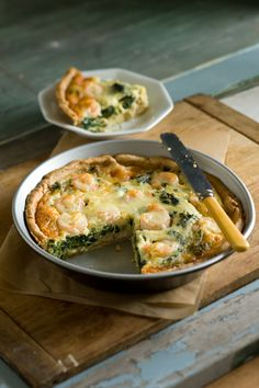 Sweet shrimp and crab and a creamy custard in a deep-dish pie.