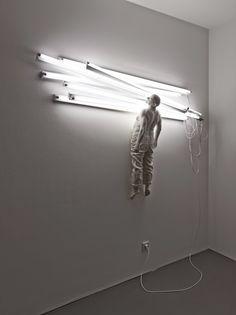 Light sculptures by Bernardi Roig.
