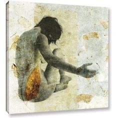 ArtWall Elena Ray Female With Opening Hand Gallery-wrapped Canvas, Size: 24 x 24, Green