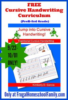 FREE Cursive Handwriting Curriculum {Limited time offer!}