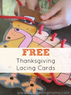 Free Thanksgiving Lacing Cards | This Reading Mama