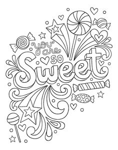 Notebook Doodles Sweets & Treats: Coloring & Activity Book: Jess Volinski: 9781497202498: Books - Amazon.ca Love Coloring Pages, Unicorn Coloring Pages, Printable Adult Coloring Pages, Coloring Books, Coloring Pages Inspirational, Color Activities, Mandala Coloring, Colorful Drawings, Notebook Doodles