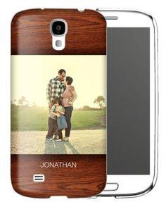 Woodgrain Samsung Galaxy Case, Slim case, Glossy, Samsung Galaxy S4, Brown