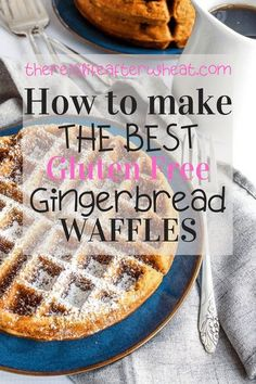 Gluten Free Gingerbread Waffles are packed with perfectly spiced gingerbread flavor and a feature a perfectly delicate texture. You would never know they're gluten free! Gluten Free Crepes, Best Gluten Free Desserts, Gluten Free Recipes For Breakfast, Gluten Free Breakfasts, Gluten Free Flour, Egg Free Recipes, Fall Recipes, Bread Recipes, Gluten Free Gingerbread