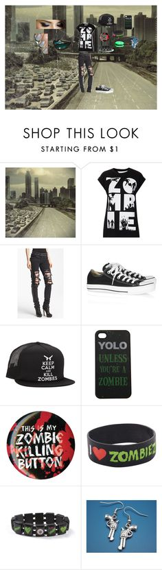 """""""unknown 8 zombie"""" by teetleturtle ❤ liked on Polyvore featuring Tee and Cake, Christopher Kane, Converse and claire's"""