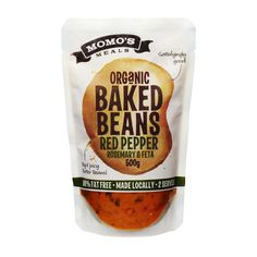 Momo's Meals - Organic Baked Beans with Red Pepper, Rosemary & Fetta
