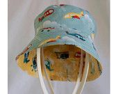 """""""Airspace Blue & Yellow"""" Children's Hat (Bucket style) A$20.00 (includes post to Australian addresses - international postage additional)"""
