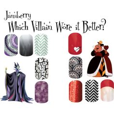 """""""Jamberry Villains 1"""" by angiodancer on Polyvore http://lizziesjams.jamberrynails.net/"""