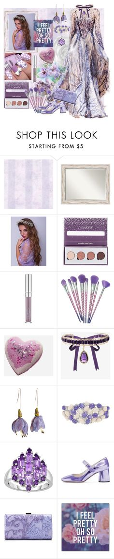 """""""I Feel Pretty, oh so pretty!"""" by sherrysrosecottage-1 ❤ liked on Polyvore featuring Brewster Home Fashions, WALL, Noa Vider, Zuhair Murad, ColourPop, Rosantica, Luise, Tadashi Shoji, Trademark Fine Art and lavendergown"""
