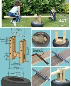 10 diy outdoor toys for kids- craft tutorials and free plans to build these fun toys for big kids. Keep your backyard fresh with these creative ideas! Kids Outdoor Play, Kids Play Area, Backyard For Kids, Outdoor Toys, Outdoor Fun, Diy For Kids, Big Kids, Backyard Playground, Backyard Games