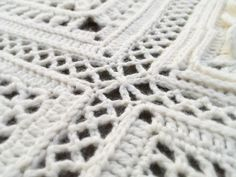 Kalevala CAL - Joining the Squares - Väinämöinen Crochet Blocks, Crochet Borders, Crochet Squares, Crochet Granny, Crochet Motif, Crochet Doilies, Crochet Stitches, Crochet Patterns, Crochet Edgings