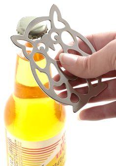 Owl Bottled Up Bottle Opener, I sooooo want this! I NEED IT!
