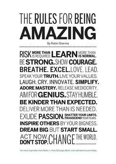 Be amazing! #amazing