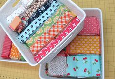 From my Quilty Studio...How I Save My Fabric Scraps...and All About Leaders and Enders!!! - Bee In My Bonnet