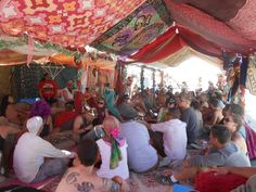 Opulent Temple crew at #BurningMan 2012 for our daily meeting
