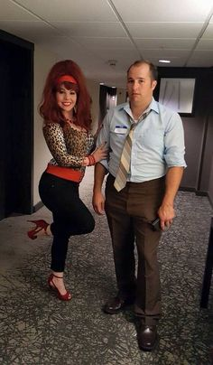 "Cute Couples Halloween Costume: Al & Peggy Bundy from ""Married: With Children"" 
