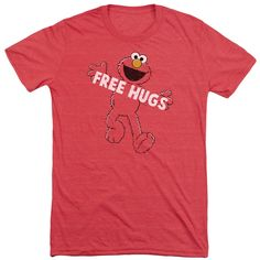 "Checkout our #LicensedGear products FREE SHIPPING + 10% OFF Coupon Code ""Official"" Sesame Street / Free Hugs-short Sleeve Adult Tri-blend - Sesame Street / Free Hugs-short Sleeve Adult Tri-blend - Price: $44.99. Buy now at https://officiallylicensedgear.com/sesame-street-free-hugs-short-sleeve-adult-tri-blend"