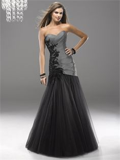 Classic A-line Feathered Lace Applique Right Side Prom Dress PD2165  http://www.simpledresses.co.uk