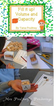 An engaging hands on activity to help your students investigate volume and capacity. Math Classroom, Kindergarten Math, Teaching Math, Teaching Ideas, Math Resources, Math Activities, Capacity Activities, Volume And Capacity, Fifth Grade Math