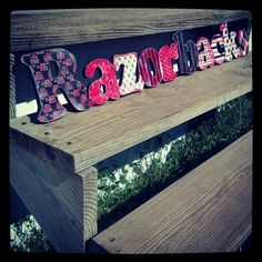 Custom Arkansas Razorback sign