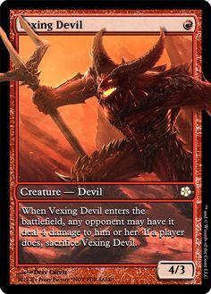 Vexing Devil, promo, zeerbe, proxy, digital render, MTG, Z's Proxy Factory, Avacyn Restored